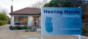 sign at Healing Hands Osteopath Croydon